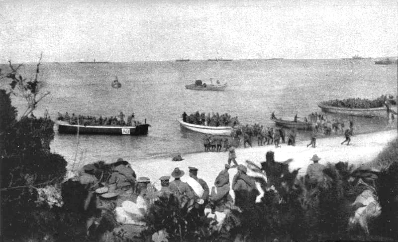 Anzac_Beach_4th_Bn_landing_8am_April_25_1915